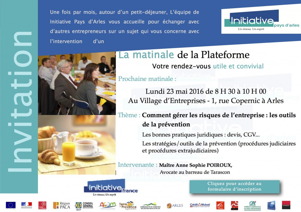 invitation matinale - 23 mai2016